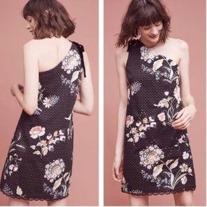NWT Anthropologie Maeve Ashbury One Shoulder Dress